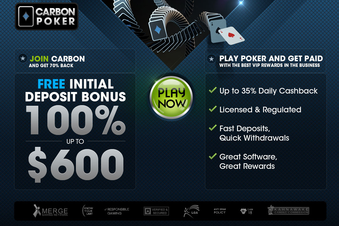 Carbon Poker Landing Page Design